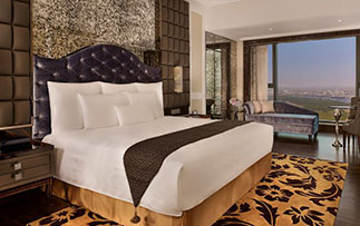 Asia Vietnam Ho Chi Minh City The Reverie Saigon hotel guest room with view  - luxury vacation destinations
