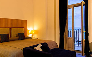 Europe Greece Crete GDM Megaron Heraklion romantic room with balcony and sea view - luxury vacation destinations