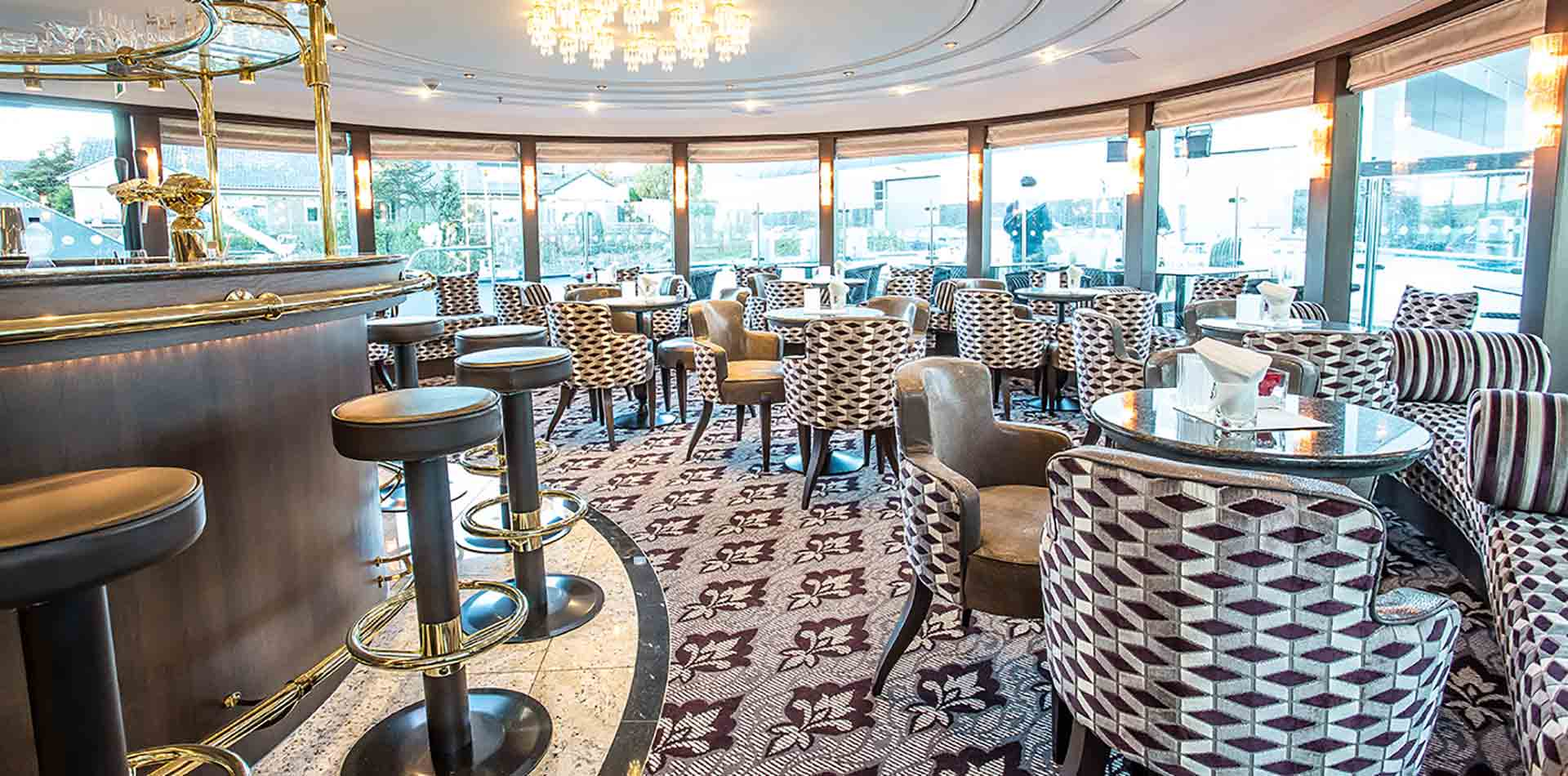Europe River Cruising on the Danube beautiful dining room on Thomas Hardy cruise ship- luxury vacation destinations