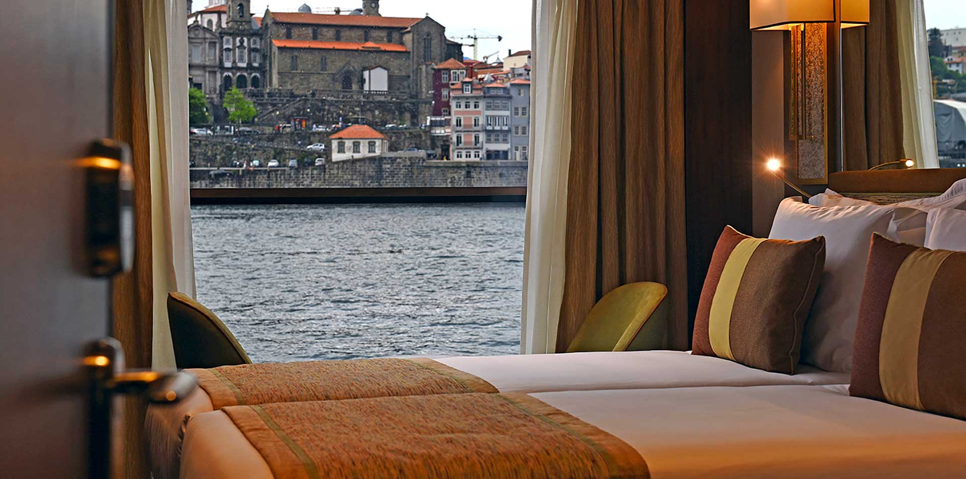 Europe river cruising Douro Splendour MS standard cabin beautiful view over looking river- luxury vacation destinations