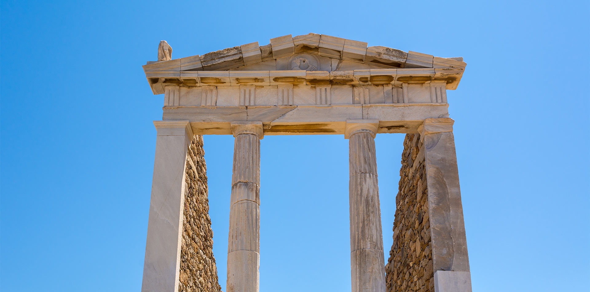 Europe Greece Delos Island The Temple of Isis archaeological site roman columns - luxury vacation destinations