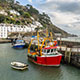 Europe United Kingdom England Cornwall green meadows beautiful coastline fishing boat - luxury vacation destinations
