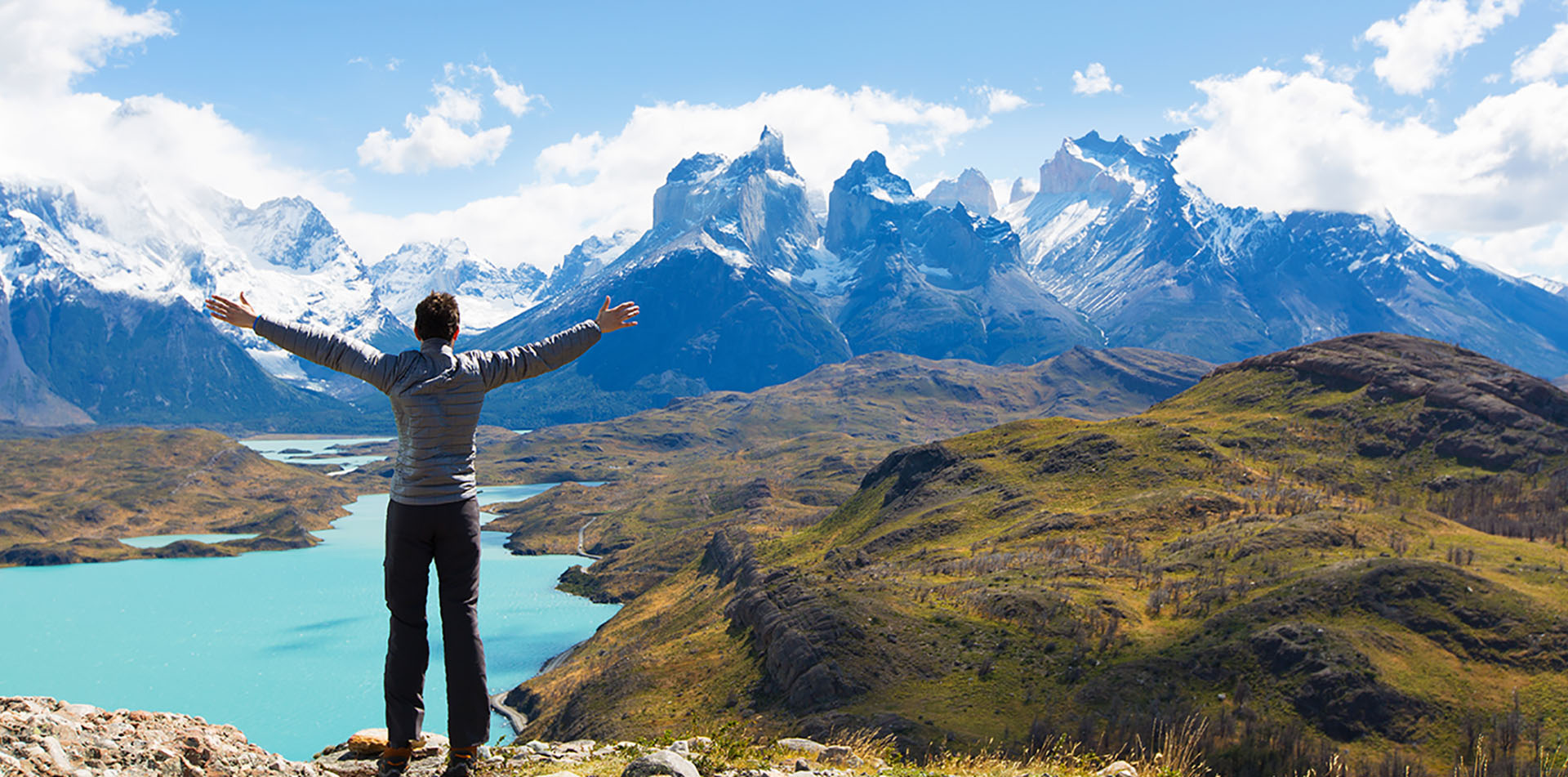 Man Hiking in Torres del Paine