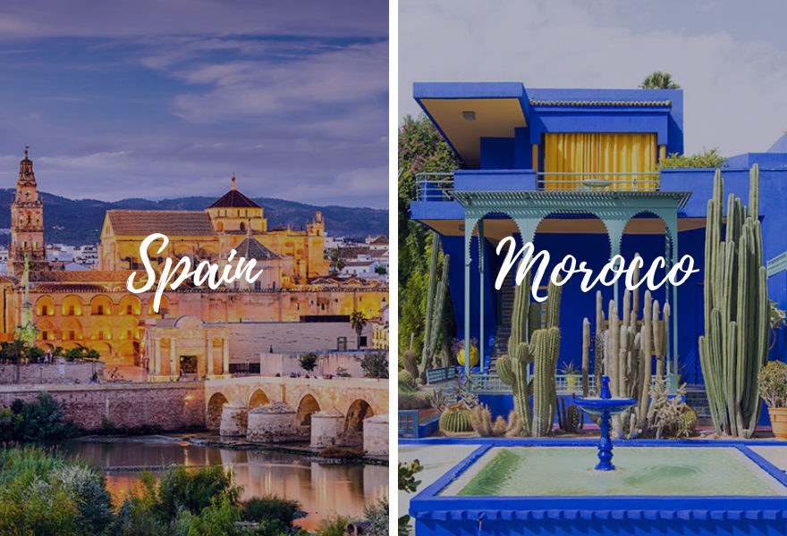 Europe Spain Morocco combination tours back-to-back - luxury vacation destinations