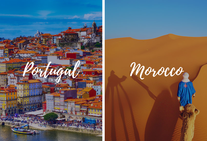 Europe Portugal Morocco combination tours back-to-back - luxury vacation destinations