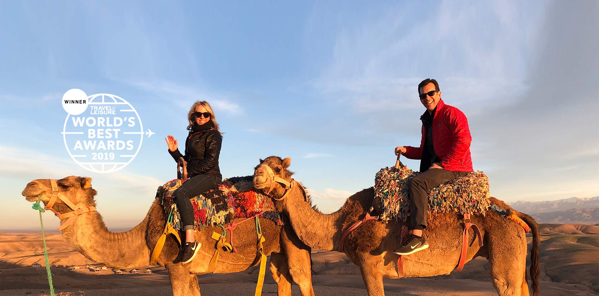 Ed and Susie on camel
