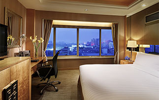 Asia China Shaanxi Sofitel Xian on Renmin Square hotel guest room with a city view - luxury vacation destinations