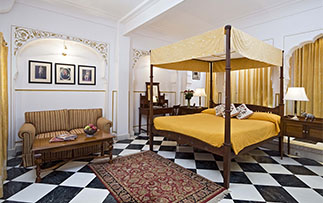 Asia India Rajasthan Jaipur Samode Haveli hotel stylish guest room - luxury vacation destinations