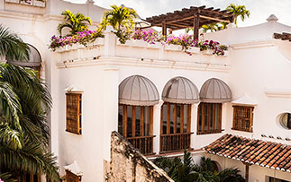 South America Colombia Cartagena Casa San Agustin hotel exterior view - luxury vacation destinations