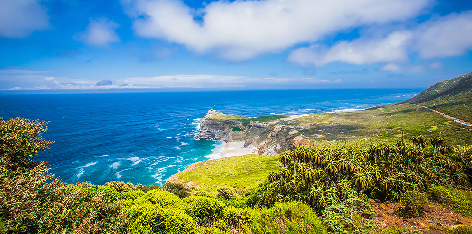 View of Cape Point in South Africa