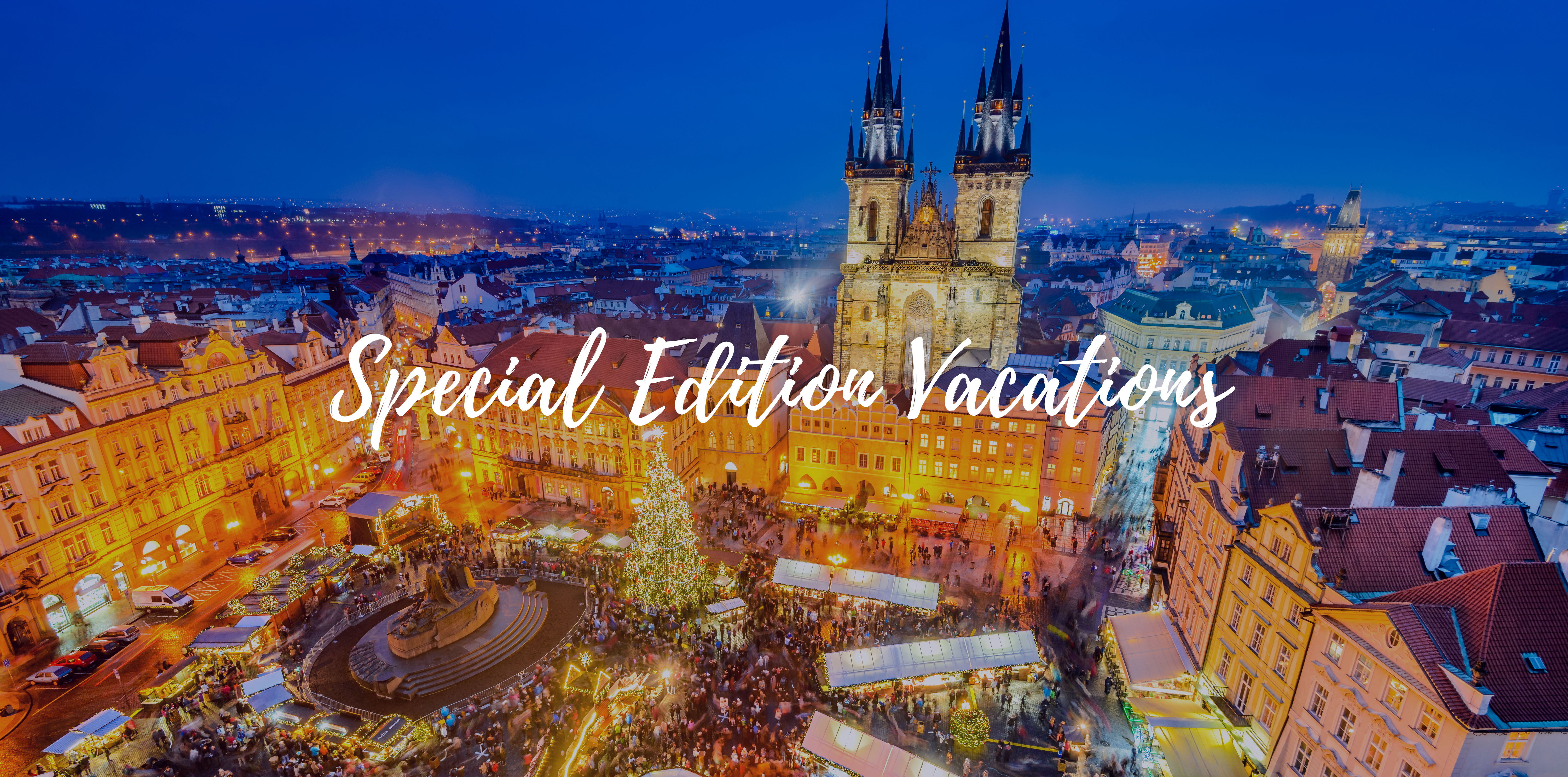 Europe Czech Republic Prague Old Town Square decorated for traditional Christmas market - luxury vacation destinations