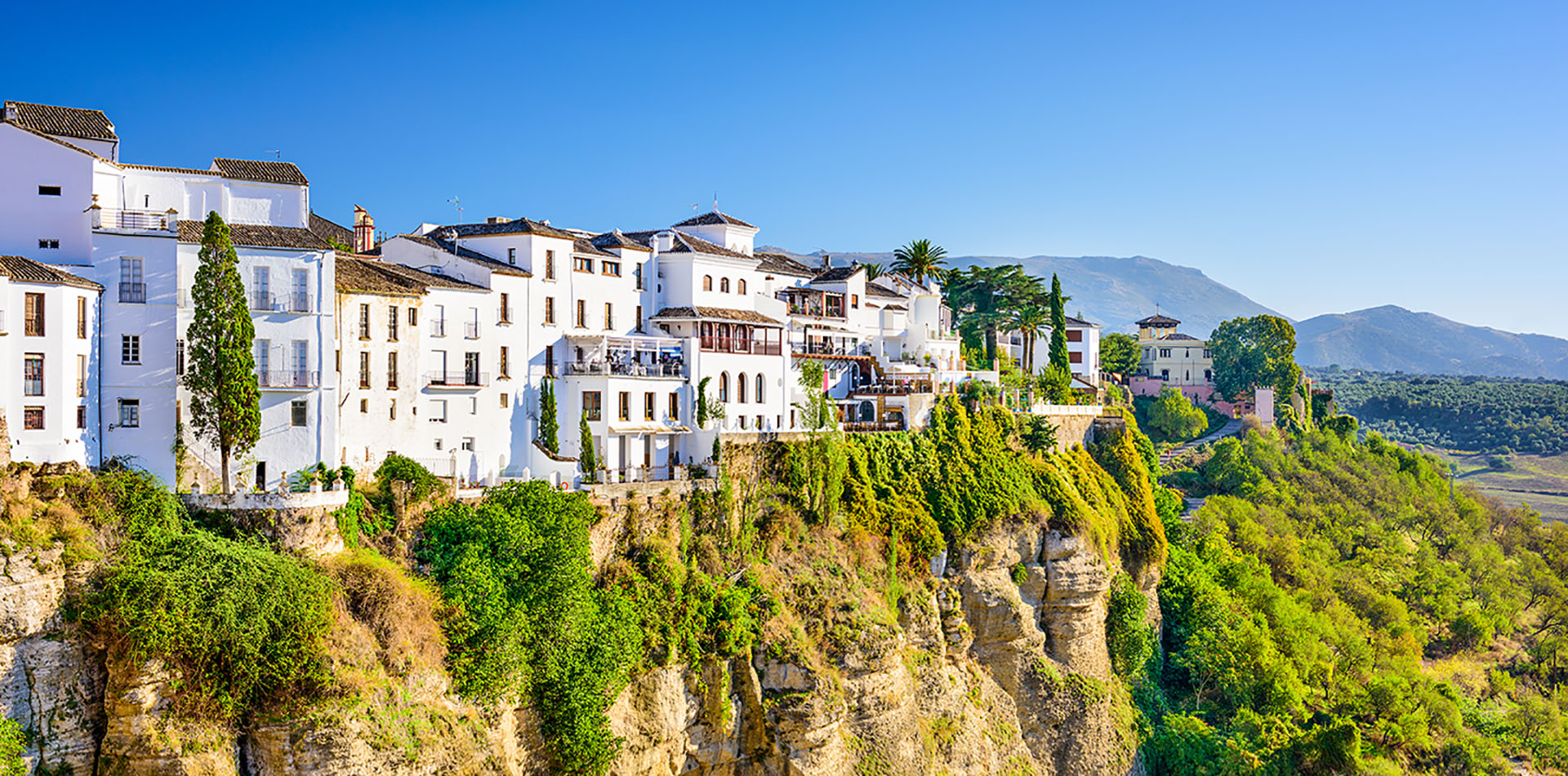 Village on Cliffs in Spain
