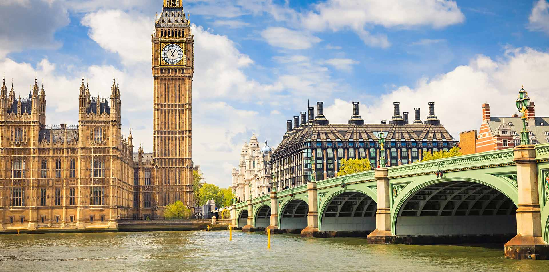 Europe United Kingdom England London famous Big Ben and Palace of Westminster on River Thames - luxury vacation destinations