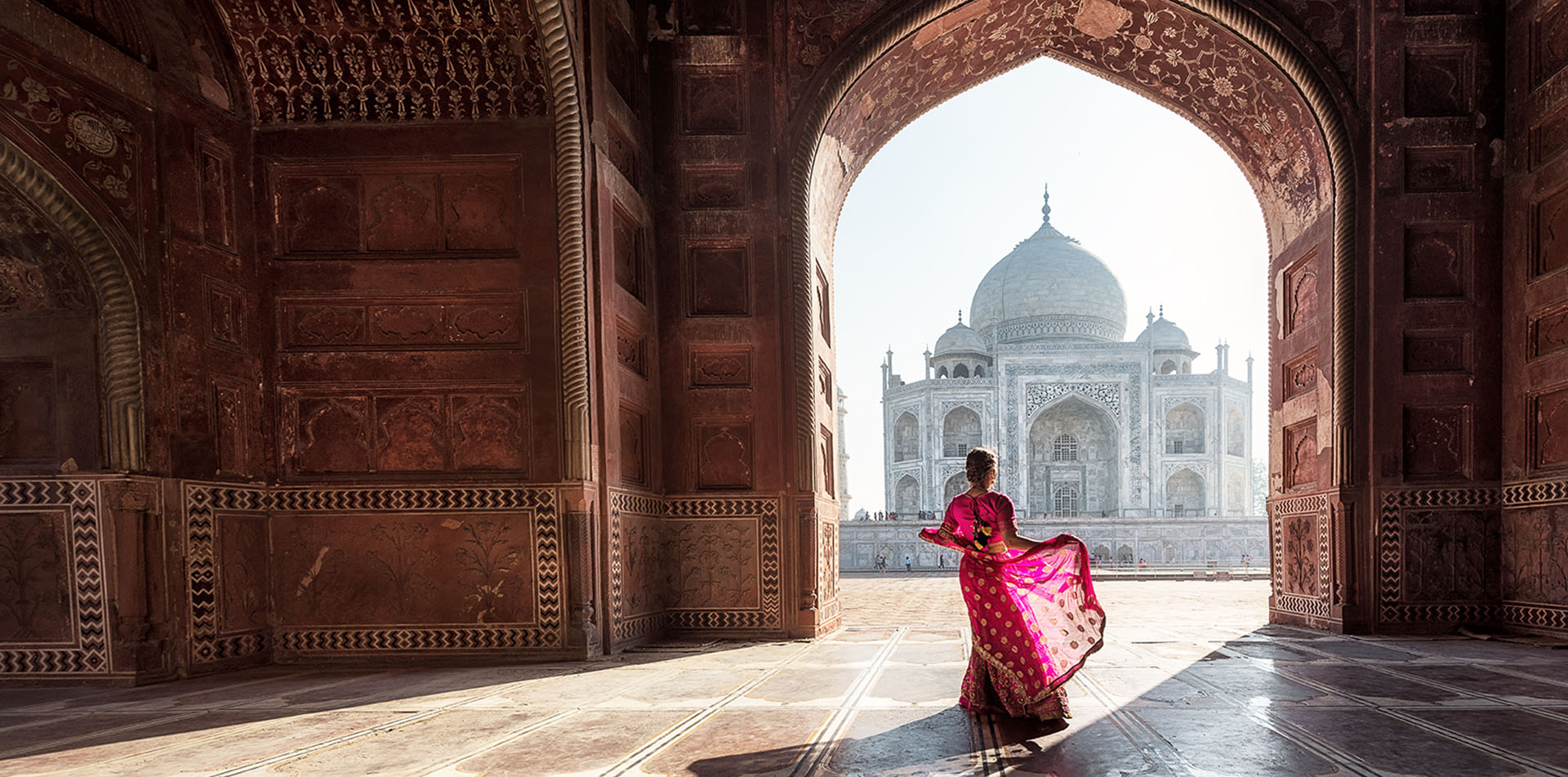 Girl at Taj Mahal, India
