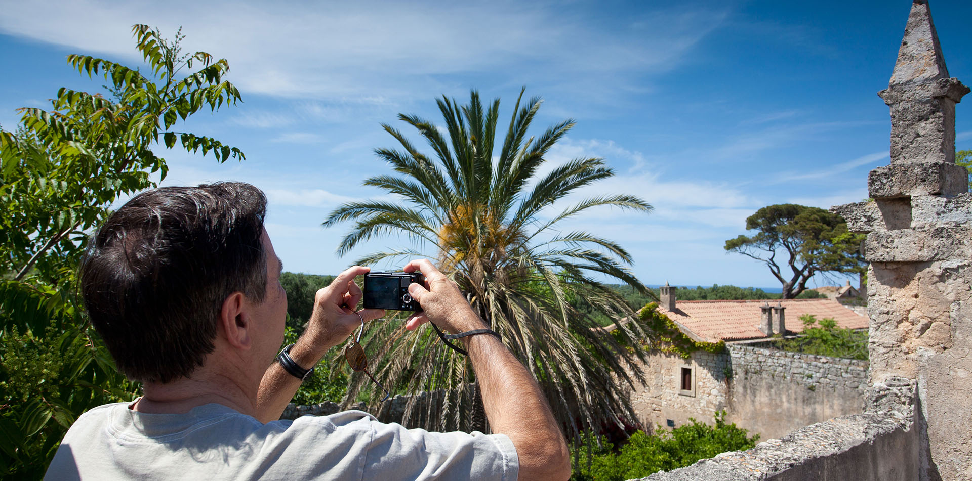 Man using a Camera in Apulia, Italy