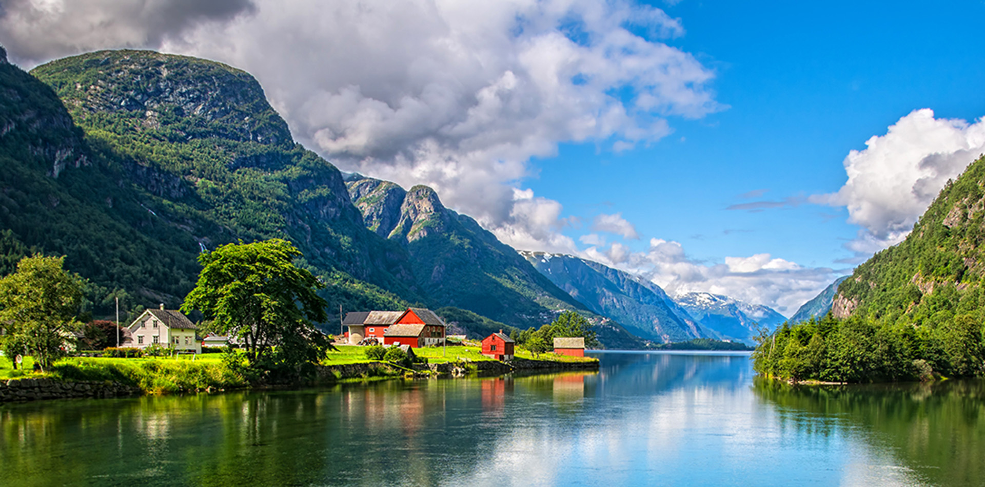 Fjord and mountains, Norway