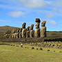 South America Chile Woman Taking Pictures Famous Moai - luxury vacation destination