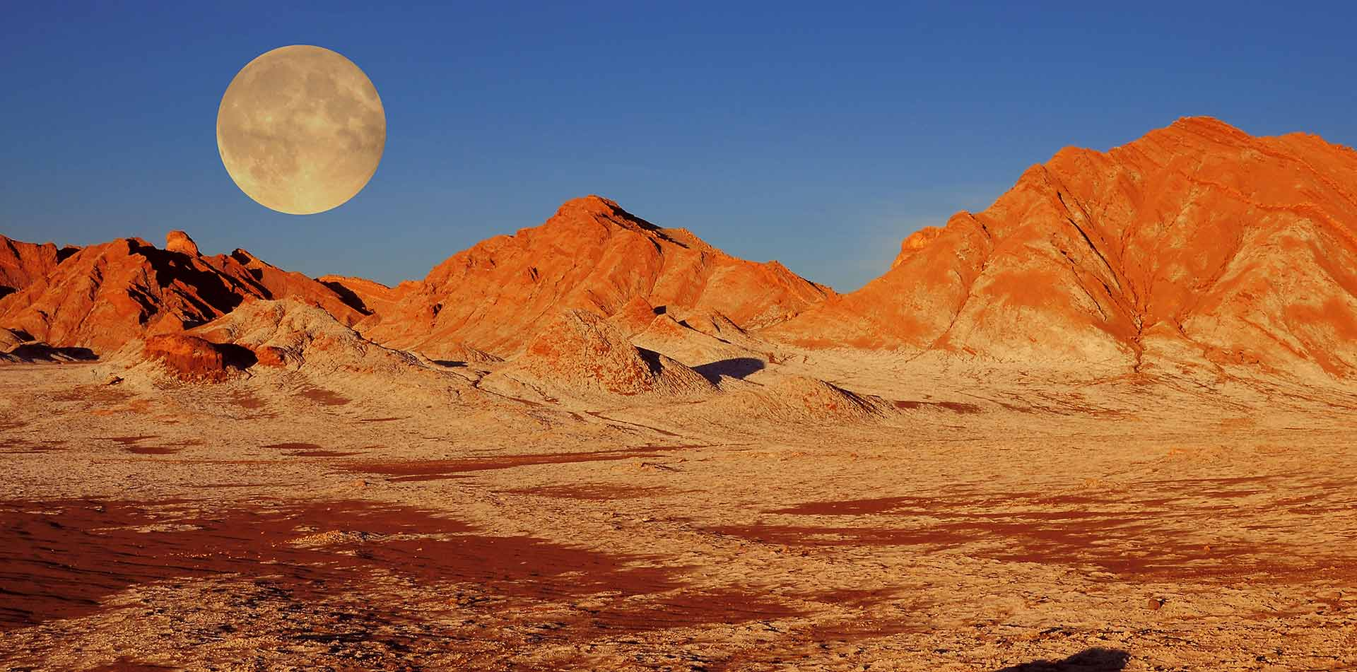 South America Chile Atacama Desert Massive Moon Crater Salt Deposit Image Hiking View  - luxury vacation destinations
