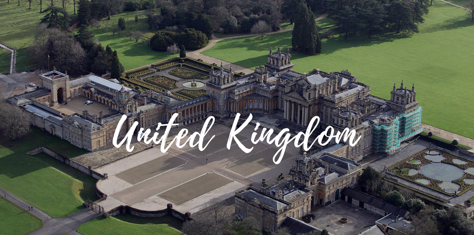 Europe United Kingdom England Cotswolds green meadows Blenheim Palace rolling hills - luxury vacation destinations
