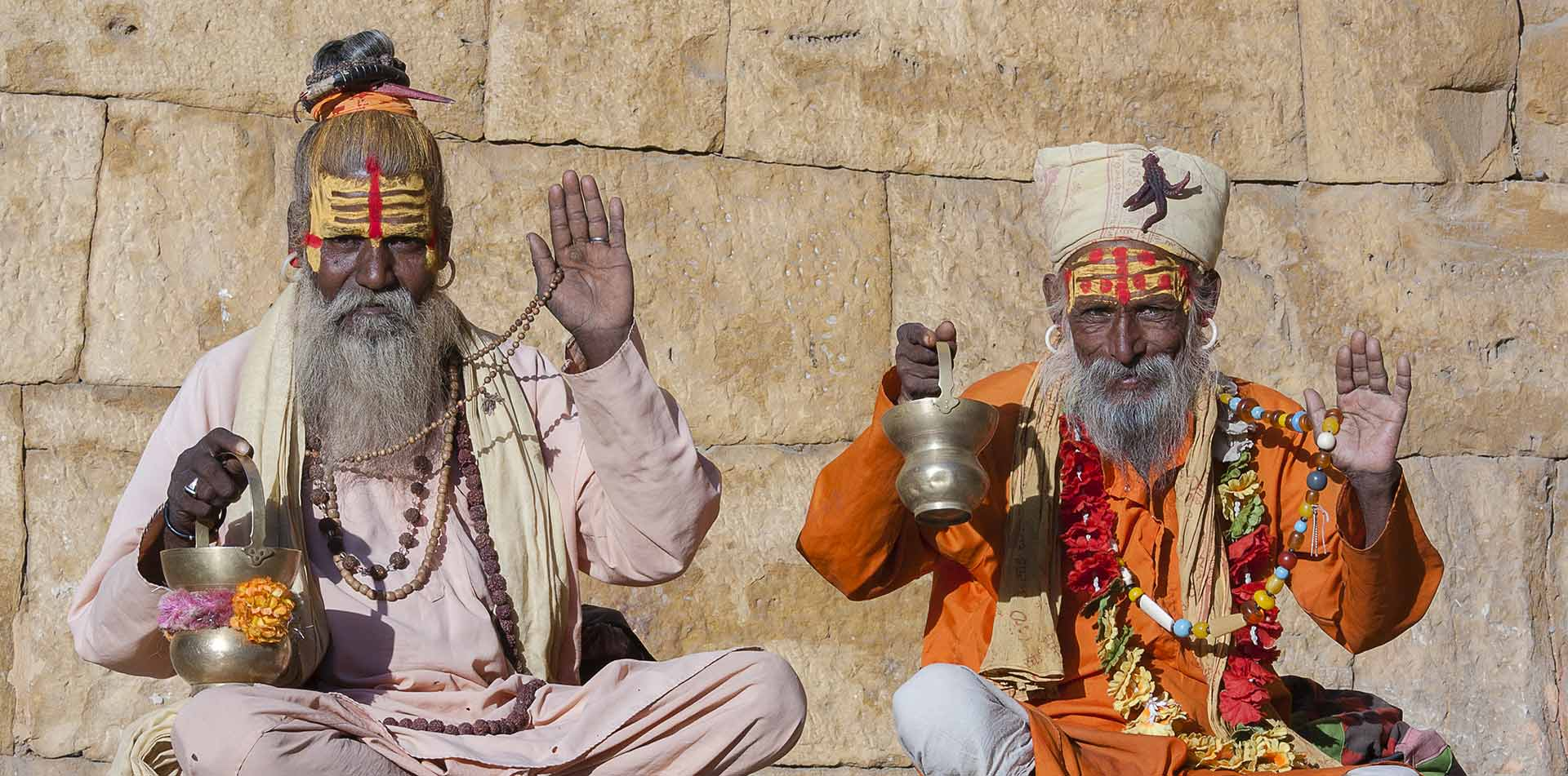 Two hindu men sitting