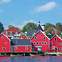 North America Canada Nova Scotia Lunenberg historic red buildings architecture tan canoes port - luxury vacation destinations