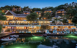 Latin America Caribbean West Indies St. Saint Lucia Waterfront hotel at Marigot Bay - luxury vacation destinations