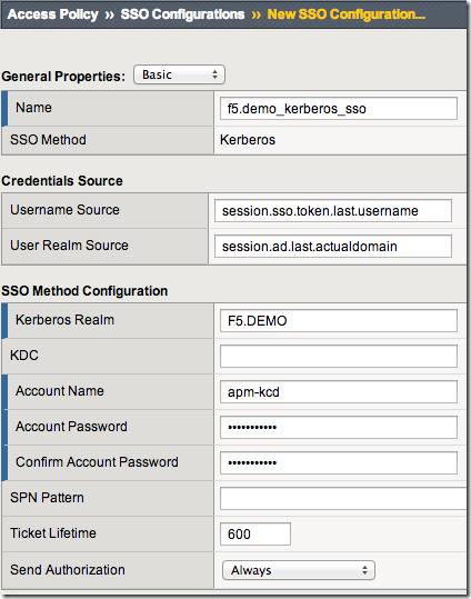 APM Cookbook: Single Sign On (SSO) using Kerberos DevCentral