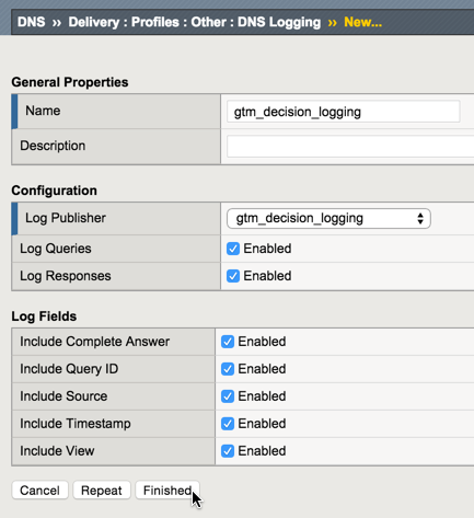 Configuring Decision Logging for the F5 BIG-IP Global