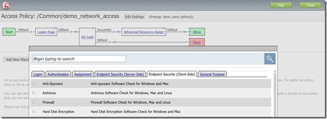 Configuring Endpoint Security (Client-Side) Using F5 Access