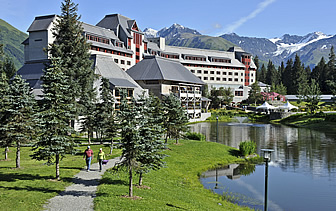 North America United States Alaska Girdwood Hotel Alyeska mountain chateau resort tree walking - luxury vacation destinations