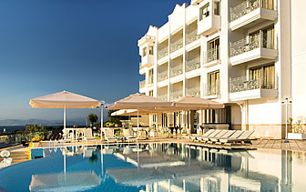 Turkey Kusadasi Lavista Boutique Hotel & Spa outdoor pool and lounge - luxury vacation destinations