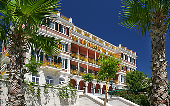 Europe Croatia Hilton Imperial Dubrovnik Hotel elegant exterior palm trees relaxing - luxury vacation destinations