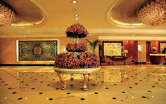 Asia India Shangri-La Eros Delhi hotel lobby - luxury vacation destinations