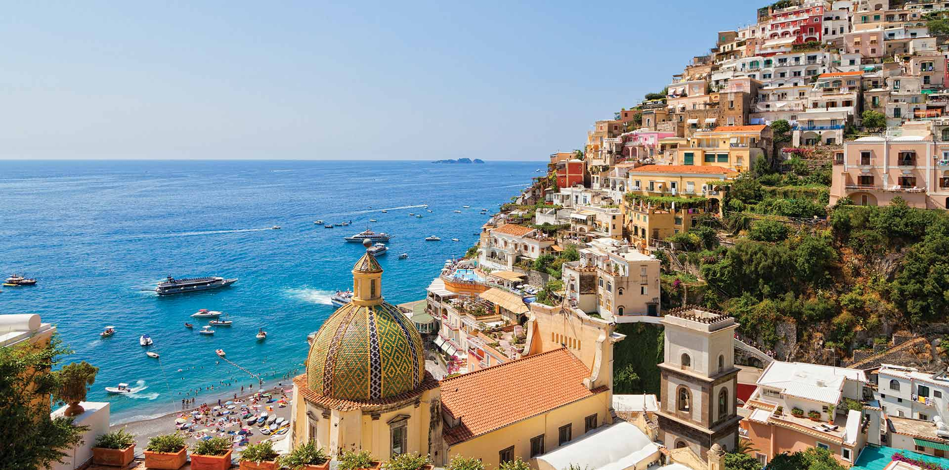 View of Ocean from Positano, Italy