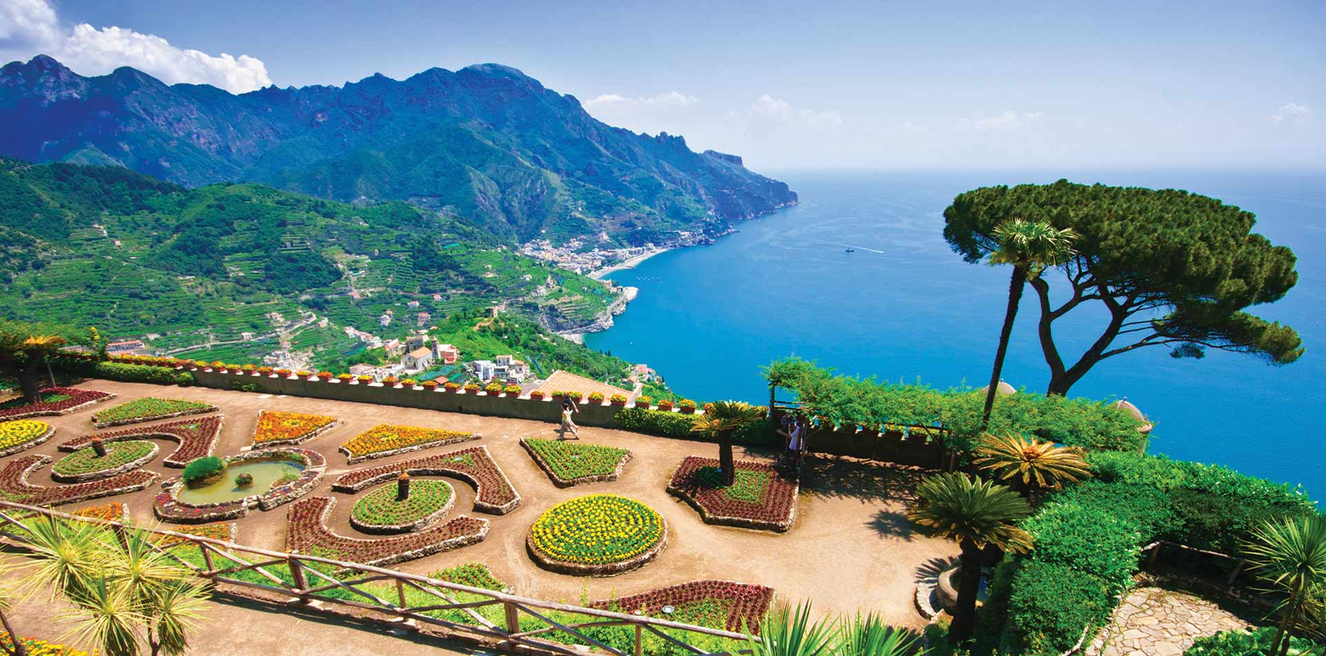 Gardens at Villa Rufolo in Ravello, Italy