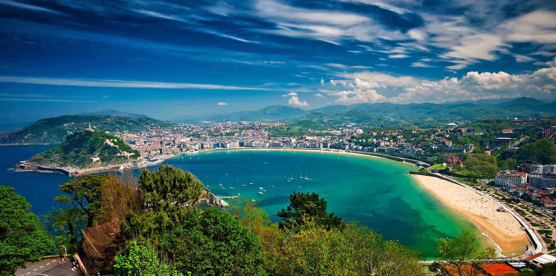 View from Mountain of San Sebastian, Spain