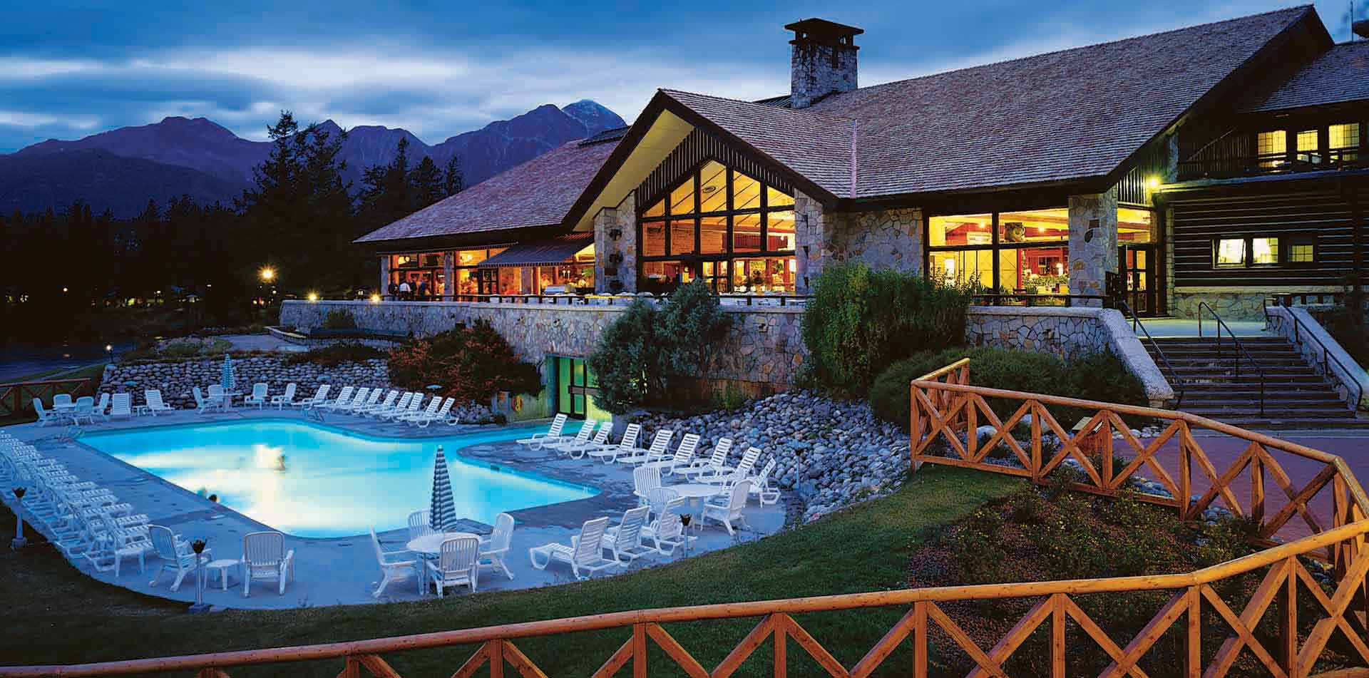 North America Canada Alberta Rockies Jasper Park Lodge National Park hotel pool - luxury vacation destinations