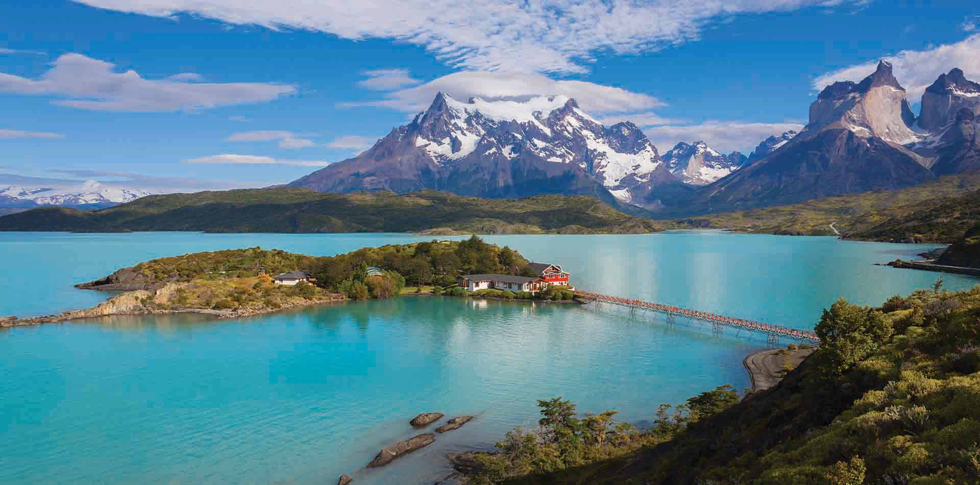 Lake and Mountains, Chile