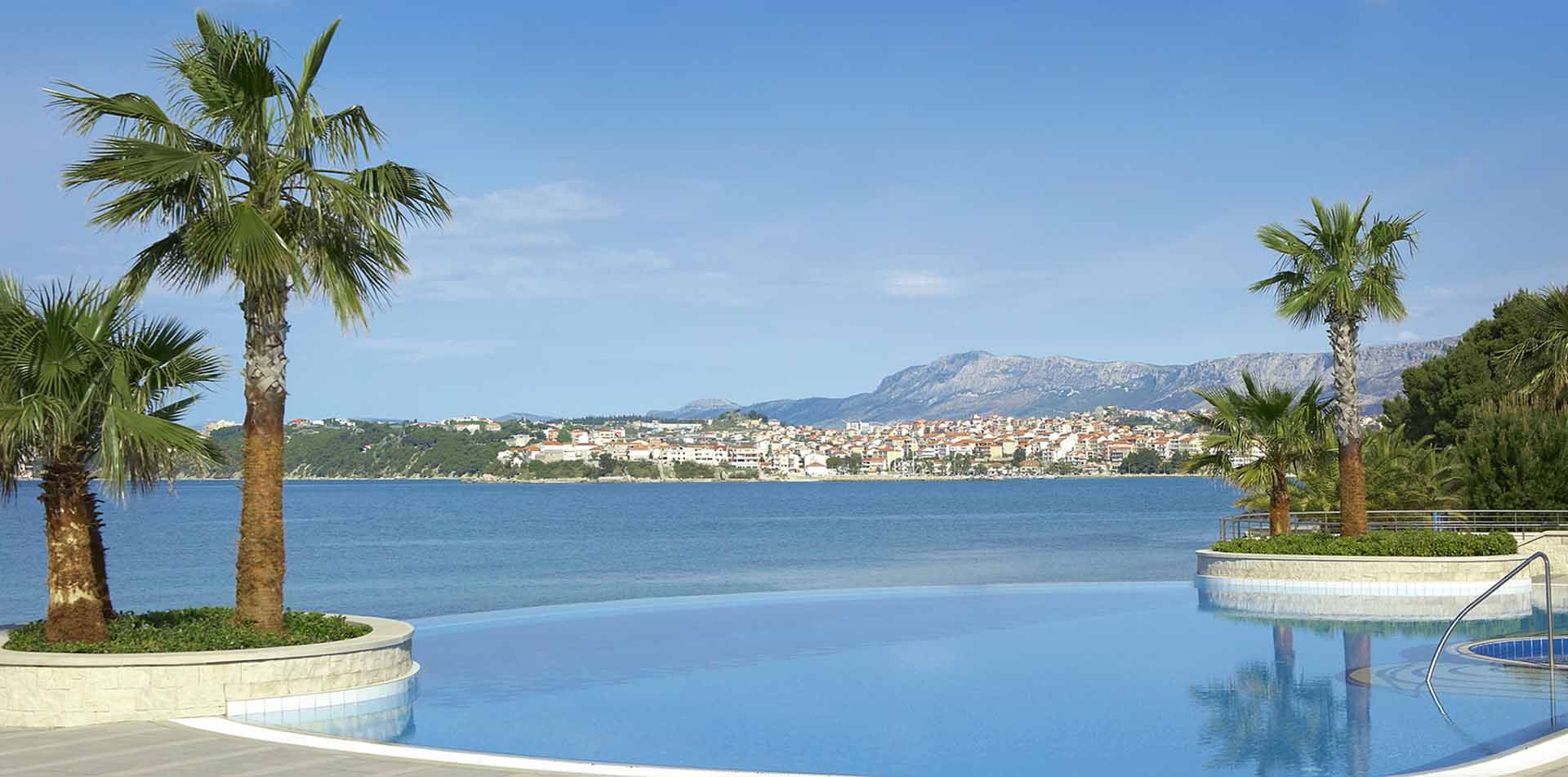 Europe Croatia Le Meridien Lav Split hotel pool swim beautiful city view blue Dalmatian Coast - luxury vacation destinations
