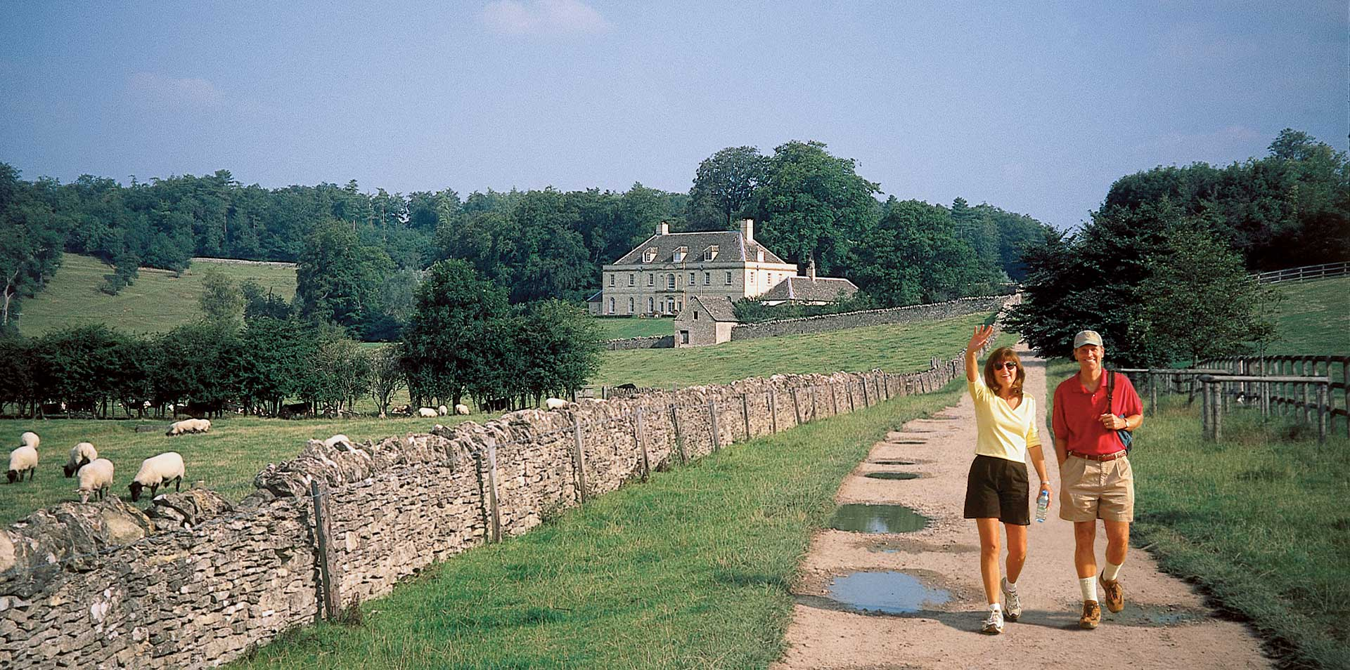 Europe United Kingdom England Cotswolds green meadows stone houses rolling hills - luxury vacation destinations