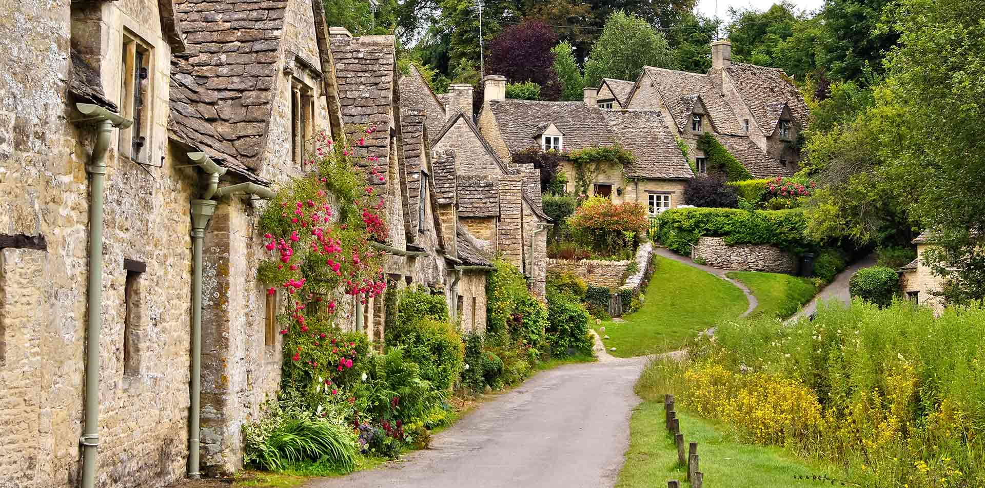 Cottages in Cotswold, England