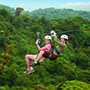 Ziplining through a Costa Rican Rain Forest