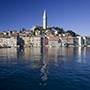 Europe Croatia scenic Istrian Peninsula Rovinj historic old town colorful houses architecture - luxury vacation destinations
