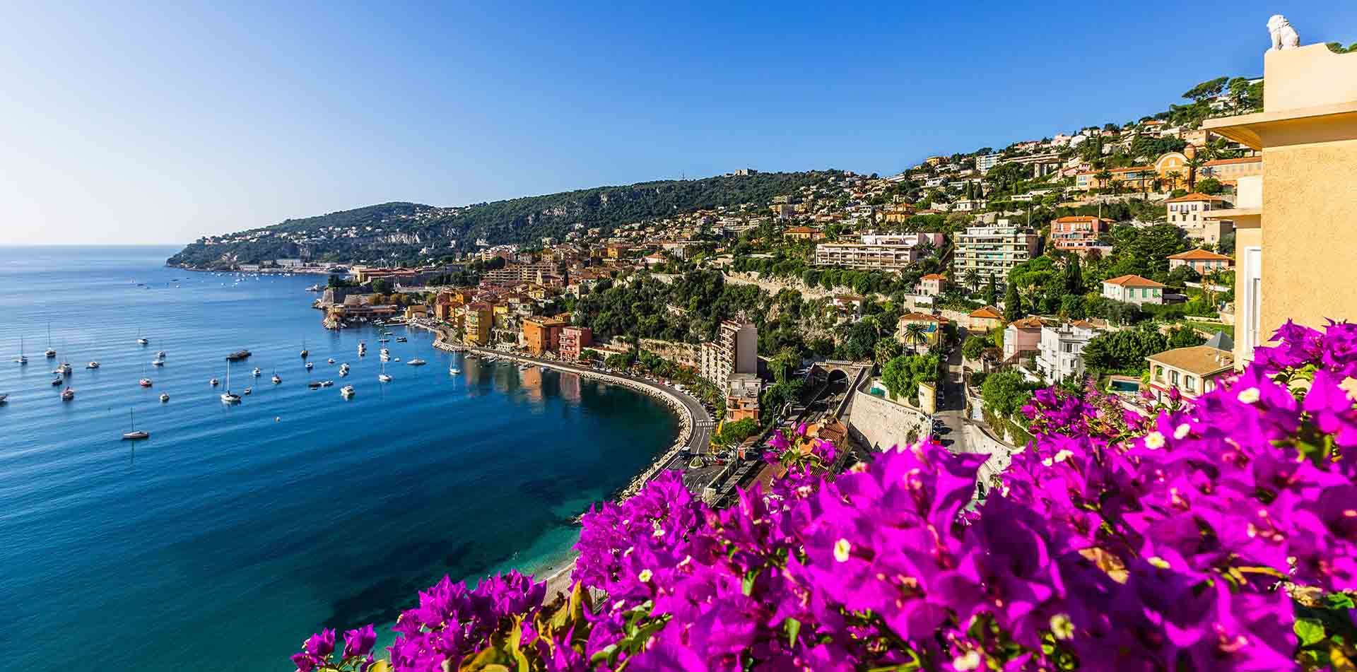 View Over Water in the French Riviera, France