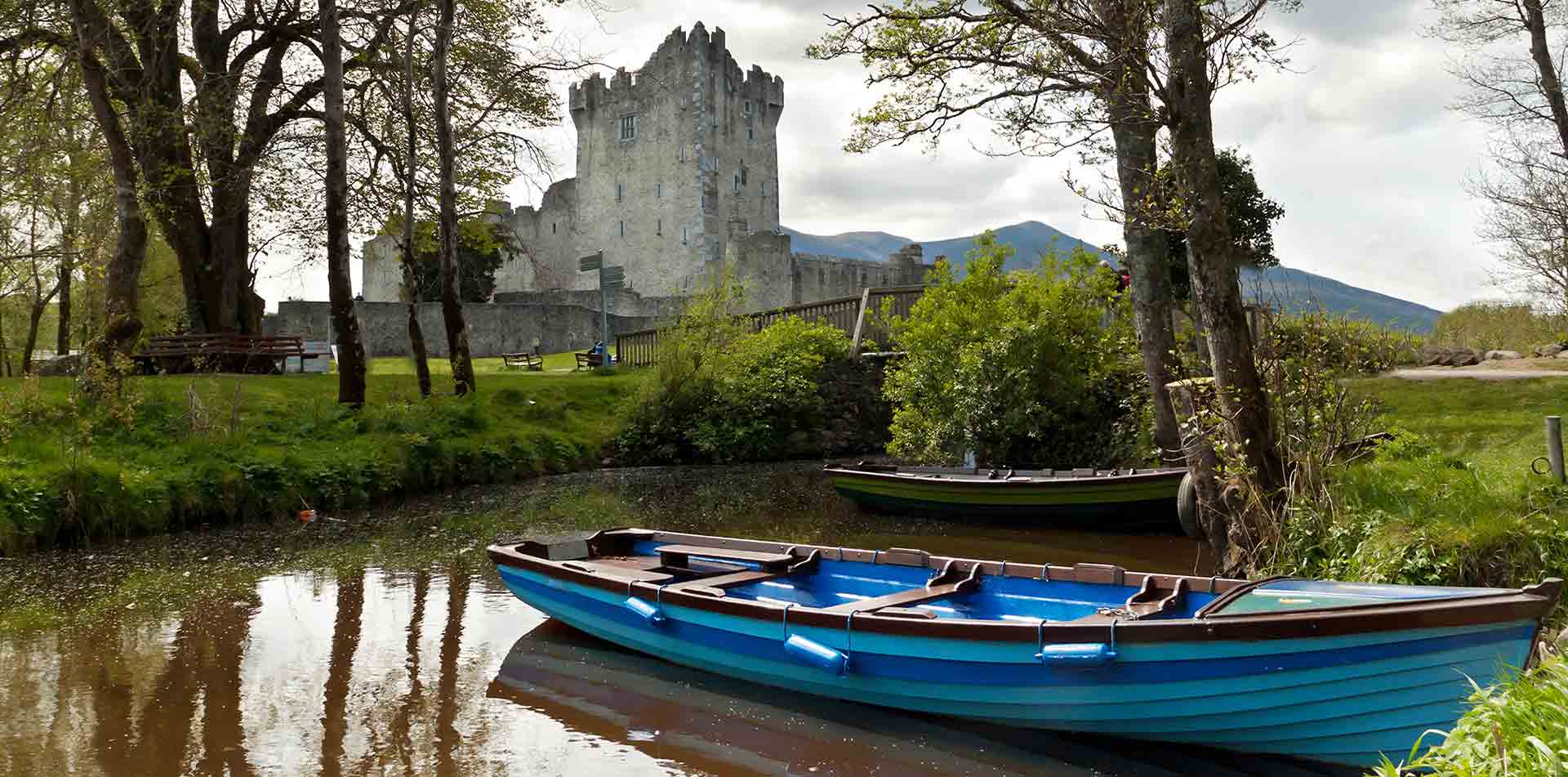 Ireland Europe Water Stream Hotel Exterior Castles Outside Greenery Lush Scenic - luxury vacation destinations