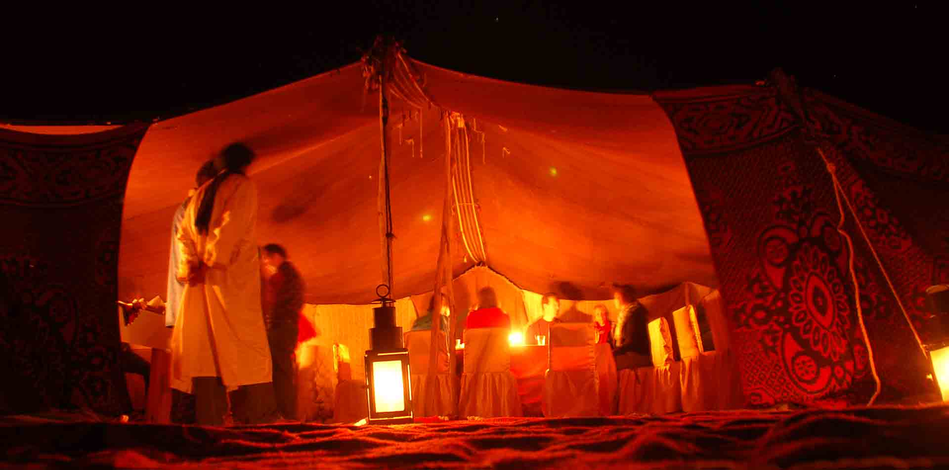 Berger Camp at Night, Morocco