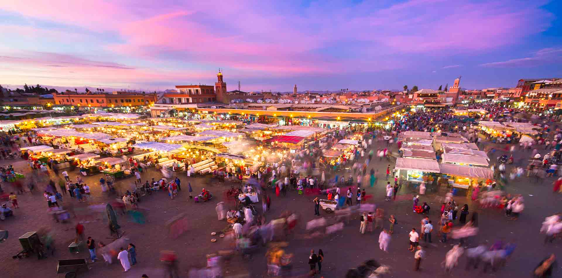 Market in Marrakesh at Night, Morocco