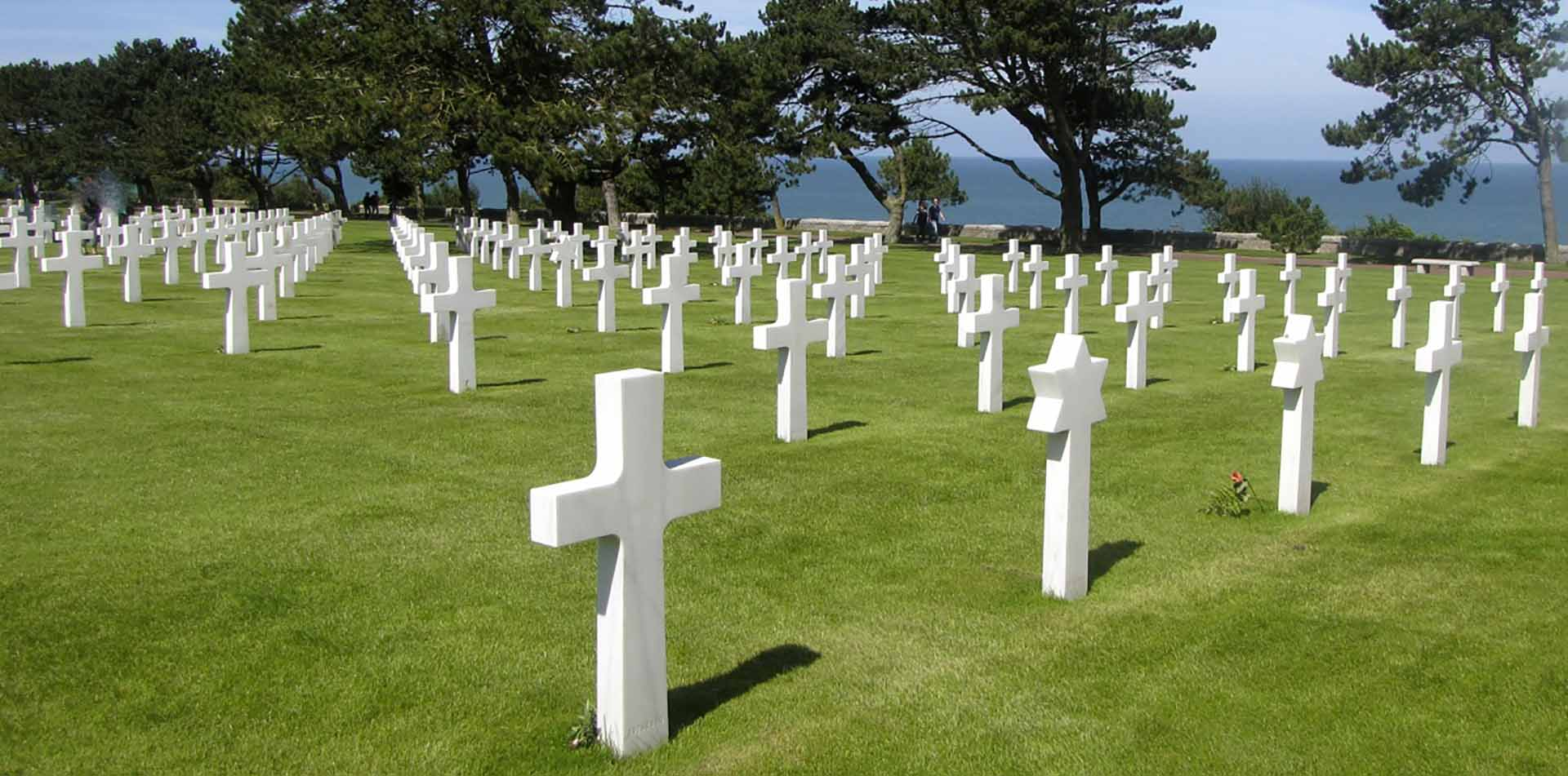Europe France Normandy American Cemetery and Memorial World War II historic marble crosses - luxury vacation destinations