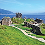 Ruins of Urquhart Castle by the Water, Scotland